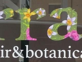 美容室 Terrace hair & botanical ウインドシート 壁面テントサイン