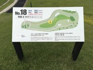 ゴルフコースサイン施工実施例