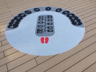 甘木公園 日時計施工