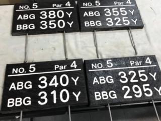 ゴルフ場用オリジナル看板 製作