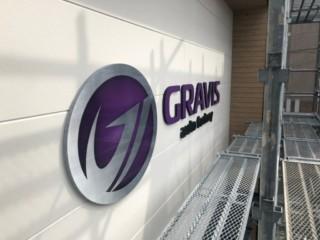 店舗照明サイン・コーナーサイン(GRAVIS様)